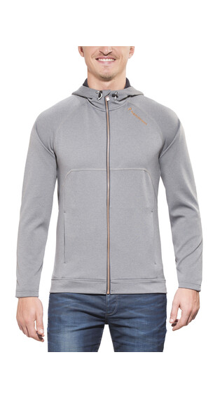Peak Performance Fort Zip Hood Jacket Men grey melange